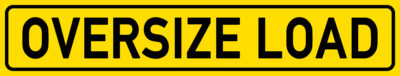 English Signs E297 - Oversize Load